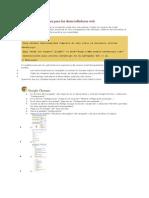 Las Instrucciones Para Los Desarrolladores Web