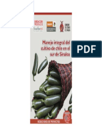 Manejo Integral Del Cultivo de Chile en El Sur de Sinaloa
