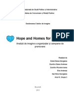 Hope and Homes for Children - Proiect GCI