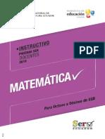 Matematica 8vo a 10mo