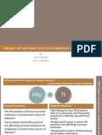 HRM Practices in Pakistan