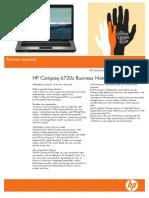HP Compaq 6720s Datasheet