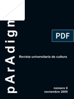 Paradigma nº 0 - ORTEGA Y GASSET
