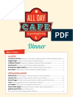 All Day Cafe Dinner Menu