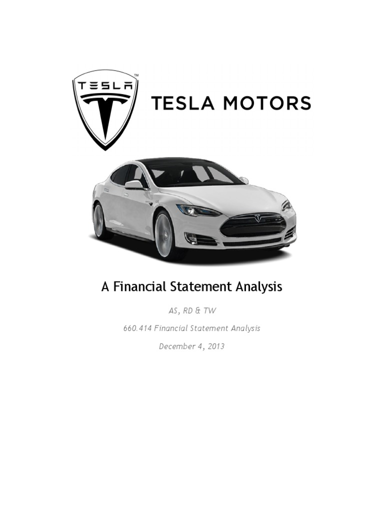 tesla financial analysis Key financial ratios for tesla, inc (tsla) - view income statements, balance sheet, cash flow, and key financial ratios for tesla, inc and all the companies you research at nasdaqcom.