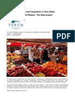 Urban Regeneration and Integration in Turin (Italy)