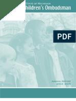 Michigan Office of Children's Ombudsman Annual Report 2005