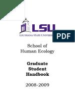 2008-2009 HUEC GRAD Handbook
