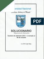 Solucionario Unasam 2013 II