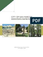 San Marcos Downtown Master Plan