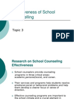 Topic 3 - Effectiveness of School Counselling