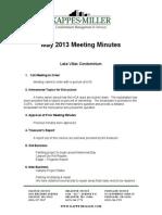 MAY 2013 Minutes
