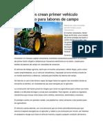 Venezolanos crean primer vehículo mecatrónico para labores de campo