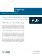 PCG Human Services Child Welfare Finance Reform White Paper