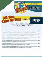 Penns Restaurant Canton43 Lunch Menu
