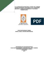 EVALUACIÓN DE LA OBTENCIÓN DE BIOETANOL A PARTIR  DEL ALMIDÓN DE ÑAME (DIOSCOREA ROTUNDATA, DIOSC_JOSÉ MURGAS_USBCTG_2012