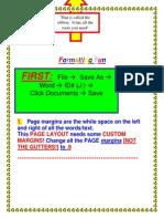 Formatting a Word PDF