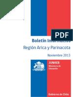 Boletin Junaeb Arica y Parinacota Noviembre 2013