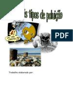 Principais tipos de poluição