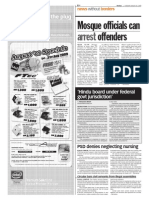 Thesun 2009-08-25 Page08 Mosque Officials Can Arrest Offenders