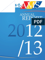 AMS Annual Report, 2012-2013