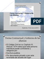 Presentacion Forma Contractual y Gobierno de Las Alianzas