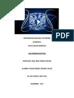 Los Códigos de Conducta y la Ética Rosado Vélez Oscar Daniel