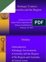 Thayer Australia's Strategic Context
