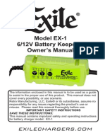 Retrosound Exile ® battery charger manual