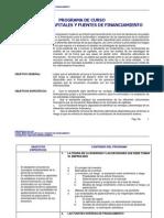 Prog Del Curso Mercados de Capitales y Fuentes de Financiamiento