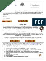 Newsletter - 6 Dec 2013