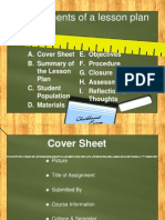 Key Elements of a Lesson Plan