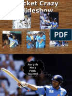 Cricket Crazy Slideshow Funny By Cricketers Dhoni, Sehwag, Irfan, Sachin, Harbhajan and many more
