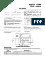Honeywell 6160rf User Guide