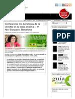Conferencia_ Los Beneficios de La Clorofila en La Dieta Alcalina __ 11 Nov Biospace, Barcelona _ Blog de Alkaline Care Dieta y Agua Alcalina