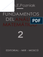Ilín, V., Pozniak, E. - Fundamentos del Análisis Matemático Tomo 2
