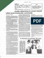 Ottenweller Finds Allegations Valid; Steubenville Register 06-21-1991