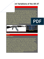 The Different Variations of the AK-47