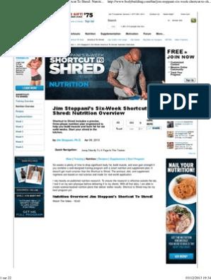 6 week shortcut to shred diet