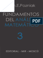 Ilín, V., Pozniak, E. - Fundamentos del Análisis Matemático Tomo 3