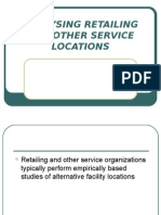 Analysing Retailing and Other Service Locations
