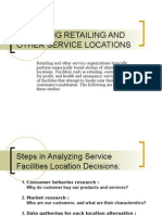 Analyzing Retailing and Other Service Locations