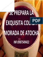 Se Prepara La Exquisita Colada Morada de Atocha