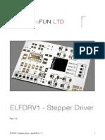 ELFDRV1 Stepper Driver User Manual