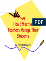 Effective Teachers