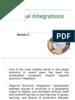Module 5 Regional Integrations