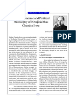 Social, Economic and Political Philosophy of Netaji Subhas Chandra Bose