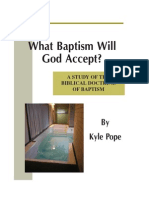 What Baptism Will God Accept?