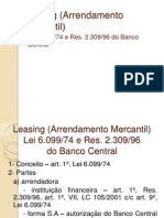 Leasing (Arrendamento Mercantil)