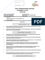 Lake County commissioners meeting draft agenda for Dec. 12, 2013.